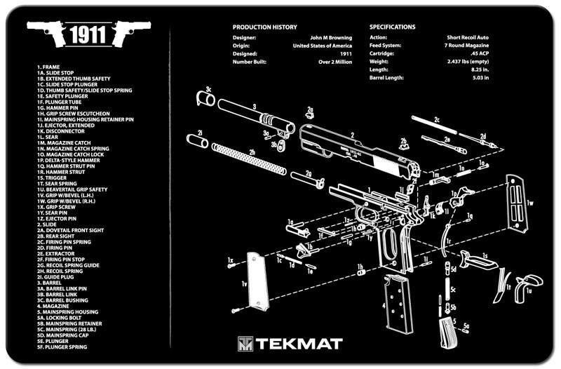 1911 Gunmat Us